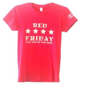 American Apparel Red Friday Fitted Tee